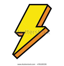 lightning clipart electric sign