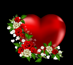 Heart Png With Flowers Love Heart Image Clipart