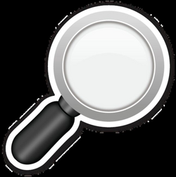 Right Pointing Magnifying Glass | EmojiStickers.com