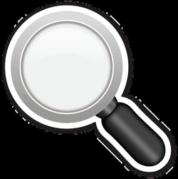 Left Pointing Magnifying Glass | EmojiStickers.com