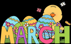 Clip Art for Each Month | Month of March Easter Clip Art Image - the ...