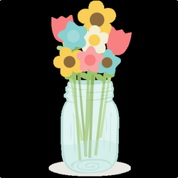 Flowers In Mason Jar SVG cutting files doodle cut files for ...