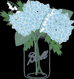 Shocking Mason Jar Clipart Blue Flower Picture Of Coloring Page ...