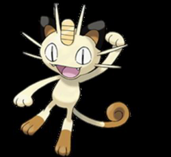 meowth transparent fire red