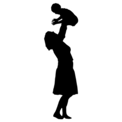 Mother And Baby Silhouette Clip Art at GetDrawings.com | Free for ...