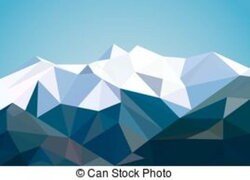 mountains clipart abstract