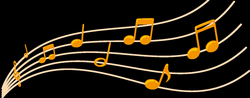 Gold, Colorful Musical Notes Png - 3773 - TransparentPNG