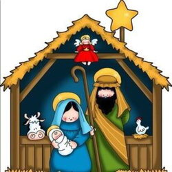 nativity clipart colorful