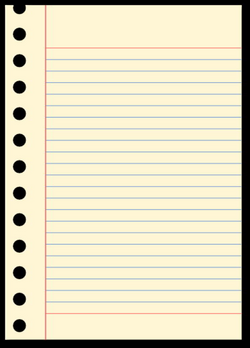 torn notebook paper png