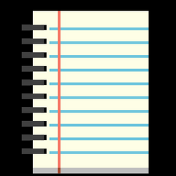 spiral clipart diary