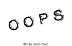 oops clipart black and white