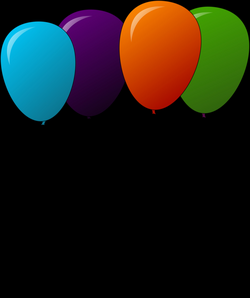 Clipart - colored balloons