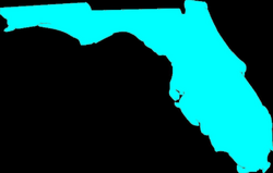 outline of florida png