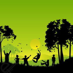 Free Silhouettes of children playing outside Clipart and Vector ...