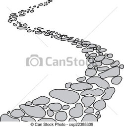 pathway clipart rock path