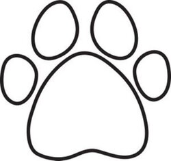 paws clipart black and white