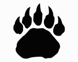 paws clipart badger