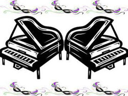 piano clipart dueling pianos