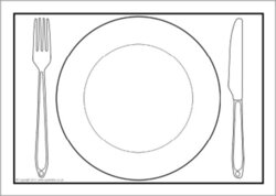 plate clipart plate outline