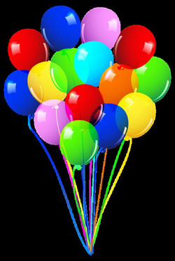 Bunch of Balloons PNG Image | WISHING YOU A HBD | Pinterest | Happy ...