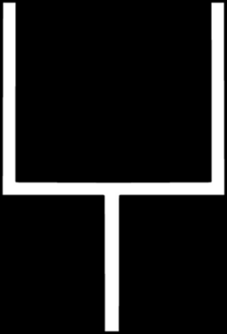 Goal Post Black And White Clipart