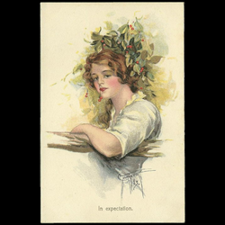 postcard drawing vintage