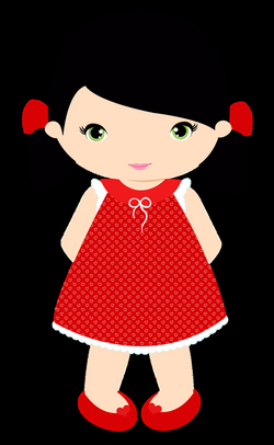 primary clipart nice girl