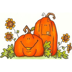 pumpkin clipart car