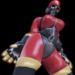 pyro transparent red
