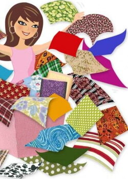 quilter clipart sewing cloth