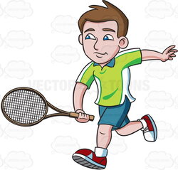 racket clipart men's