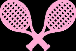 racket clipart pink tennis racket