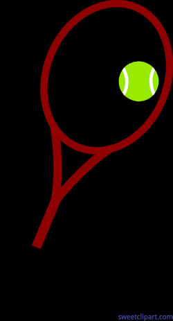 Tennis Ball And Racket Clip Art - Sweet Clip Art