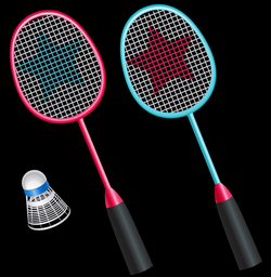 Badminton Rackets with Shuttlecock PNG Vector Clipart | Gallery ...
