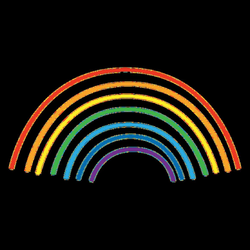 Rainbow colorful lines - Transparent PNG & SVG vector