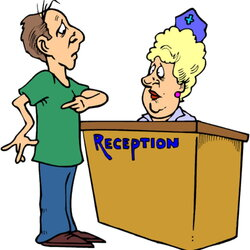 receptionist clipart information counter