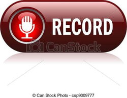 record clipart sign