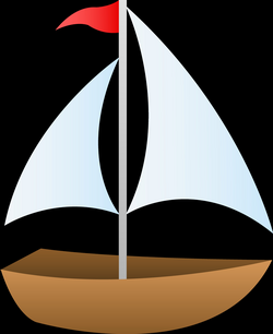 Red Sailboat Free Clipart