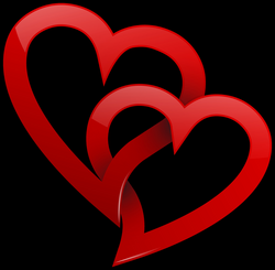 Two Red Hearts PNG Clipart - Best WEB Clipart
