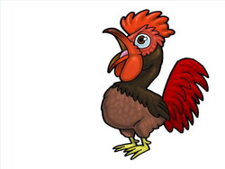 rooster clipart lame