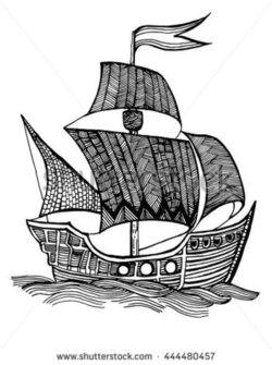 sail clipart fleet ship