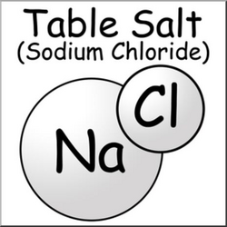 salt clipart sodium chloride