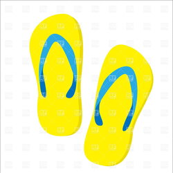 slippers clipart beach slipper
