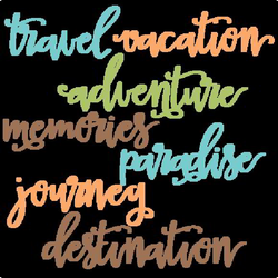 Travel Words Set SVG scrapbook cut file cute clipart files for ...