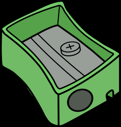 Clipart - Green Pencil Sharpener
