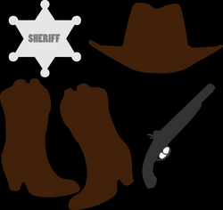 Clipart - Cowboy Clothing And Accessories