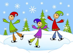 skating clipart christmas