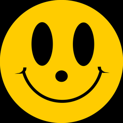 Clipart - Simple Flat Smiley Face Smile