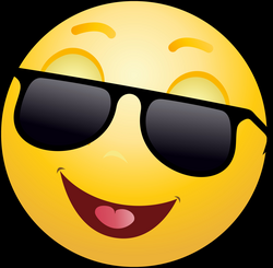Smiling Emoticon with Sunglasses PNG Clip Art - Best WEB Clipart