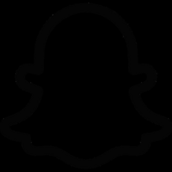 Snapchat Ghost Logo Black and White transparent PNG - StickPNG